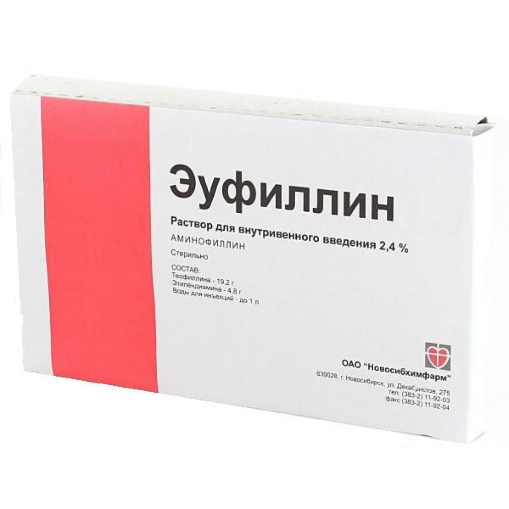 Ингаляции с эуфиллином взрослым и детям: инструкция по применению.